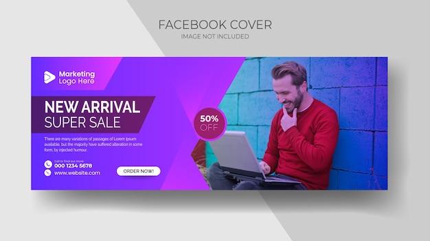 Streszczenie tło projektu lub nagłówka banera internetowego nieruchomość facebook okładka i szablon banera