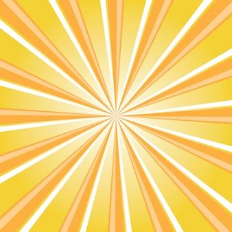 Streszczenie tło retro z promieniem słońca. letnia ilustracja wektorowa do projektowania