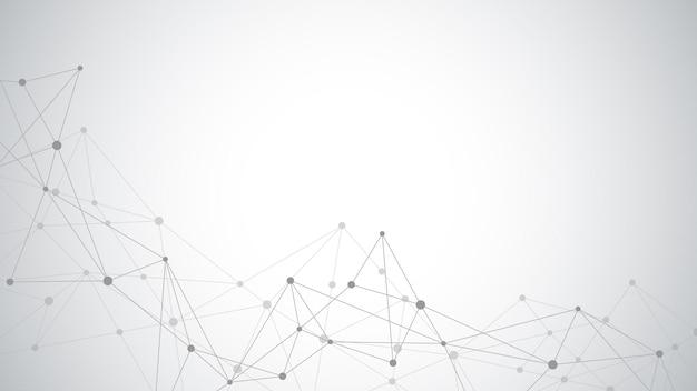Streszczenie tło splotu z łączącymi kropki i linie