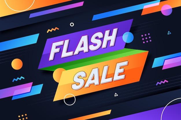 Streszczenie tło sprzedaży flash