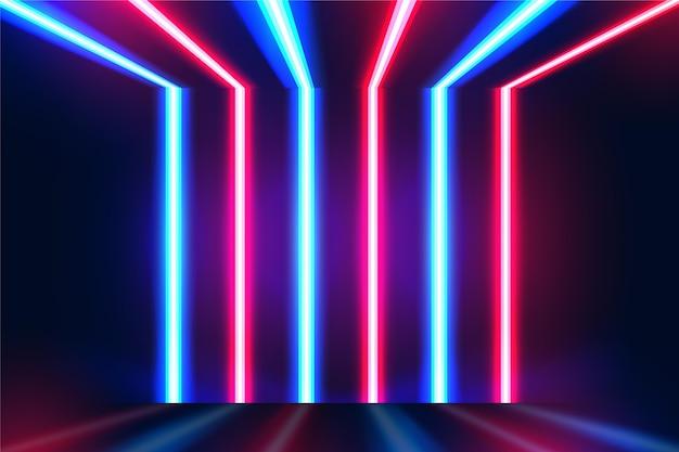 Streszczenie tło światła neonowe