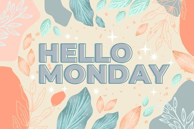 Streszczenie tło szczęśliwy poniedziałek
