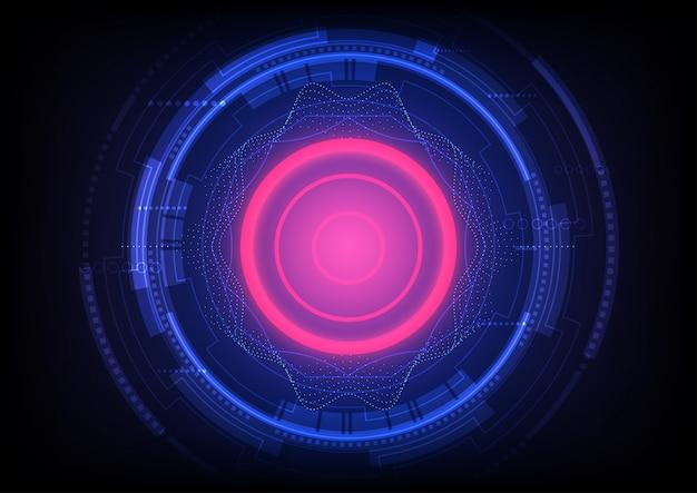 Streszczenie tło technologii cyfrowej komunikacji inżynierii