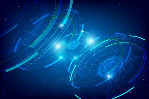 Streszczenie tło technologii hud