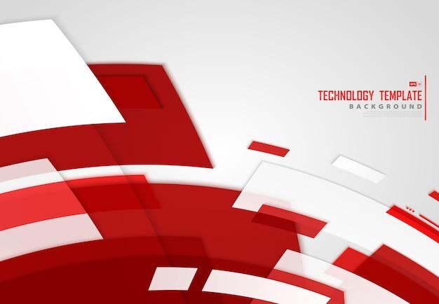 Streszczenie tło technologii linie czerwony pasek.