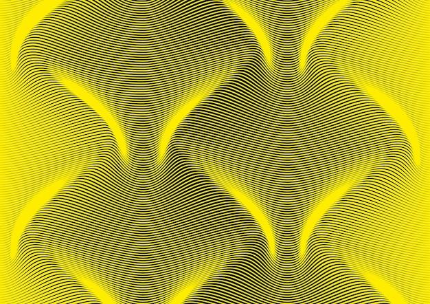 Streszczenie tło ukośnych linii zakrzywionych w sinusoidę. długa, gładka fala w przestrzeni. symulacja objętości różnicy grubości. pasiaste tło strony prezentacji. kreatywna nowoczesna linia tekstury.