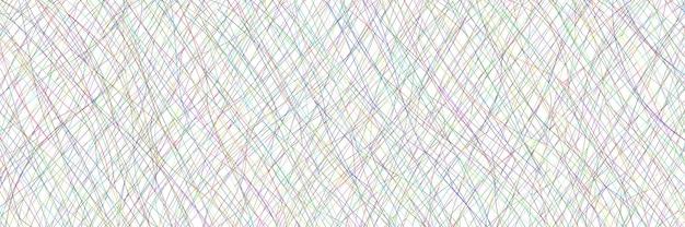 Streszczenie tło wektor, baner, wielokolorowe przecinające się zakrzywione linie
