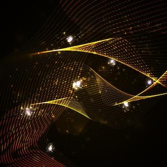 Streszczenie tło wektor, błyszcząca przestrzeń, ilustracja futurystycznej fali
