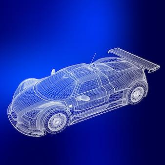 Streszczenie tło wektor koncepcja kreatywnych 3d modelu samochodu. samochód sportowy.