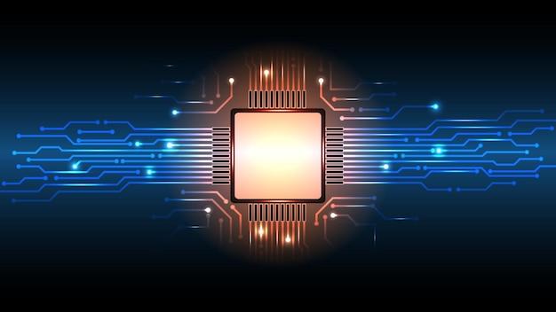 Streszczenie tło wektor płytki drukowanej mikroprocesora komputera.