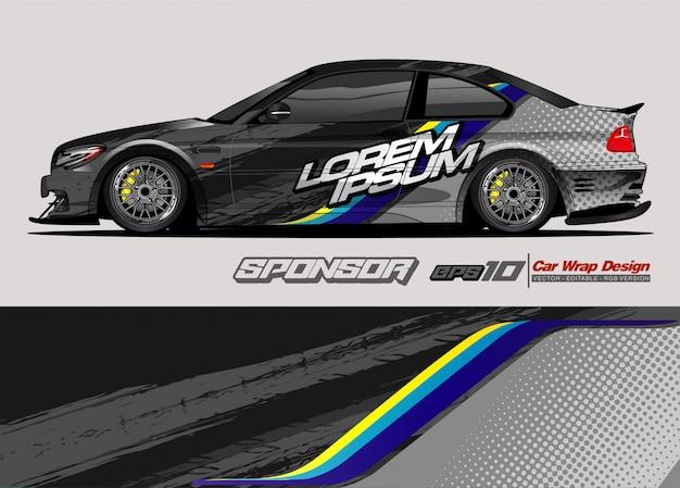Streszczenie tło wektor wyścigowy projekt opakowania samochodu i barwę pojazdu