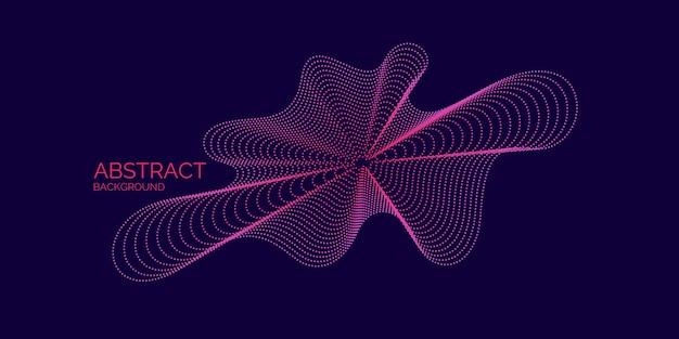 Streszczenie tło wektor z dynamicznych fal, linii i cząstek. ilustracja odpowiednia do projektowania