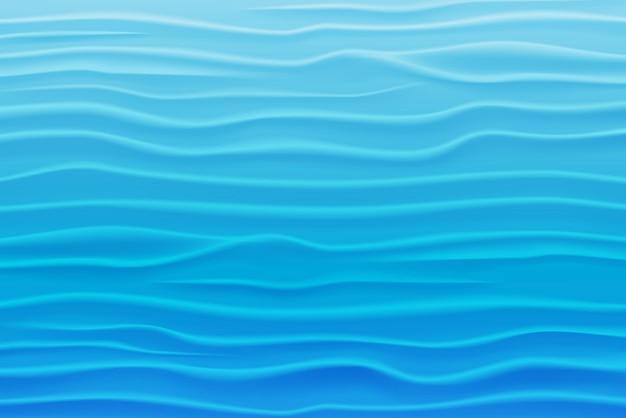 Streszczenie tło woda niebieskich fal. ilustracja wektorowa eps10
