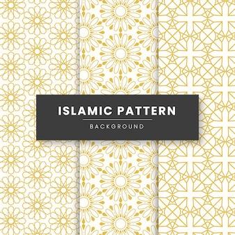 Streszczenie tło wzór geometryczny islamski. oparty na etnicznych muzułmańskich ornamentach.