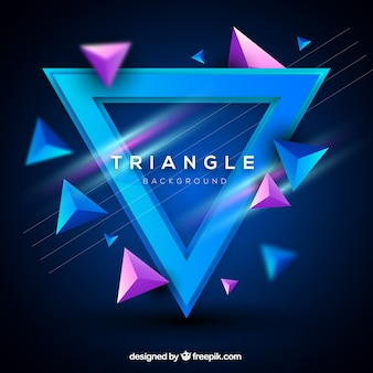 Streszczenie tło z 3d trójkąty