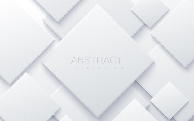 Streszczenie tło z białych kwadratów geometrycznych