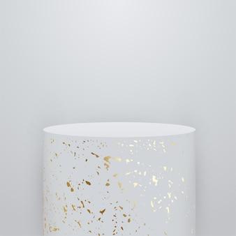 Streszczenie tło z białymi kulkami 3d