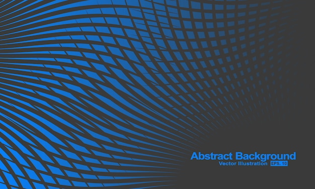 Streszczenie tło z czarnymi i niebieskimi liniami gradacji.