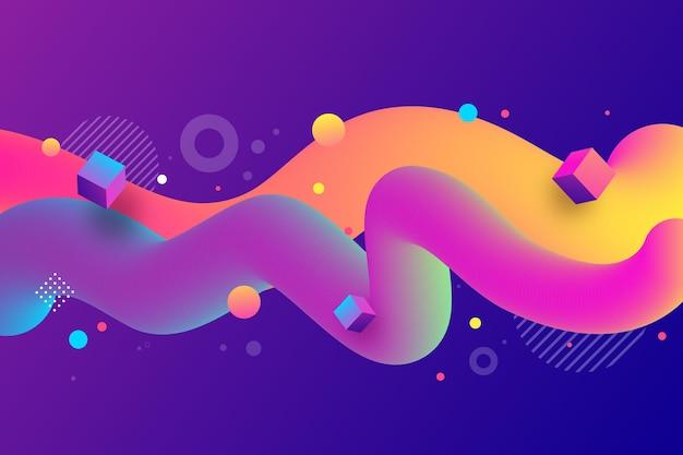 Streszczenie tło z falistymi kolorowymi kształtami