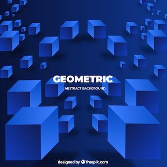 Streszczenie tło z geometrycznych kształtów