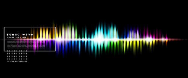 Streszczenie tło z kolorową falą dźwiękową
