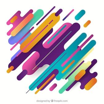 Streszczenie tło z kolorowe zaokrąglone kształty