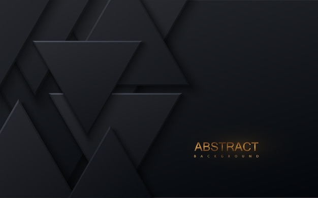 Streszczenie tło z kształtami czarnego trójkąta