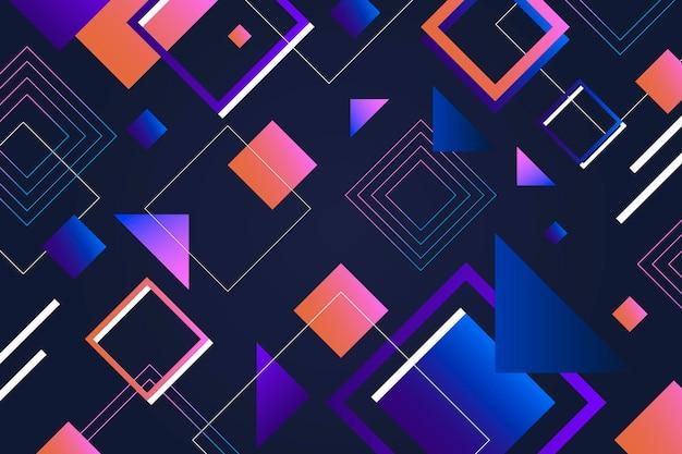 Streszczenie tło z kształtów geometrycznych