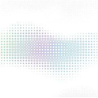 Streszczenie tło z kwadratowych kształtów półtonów