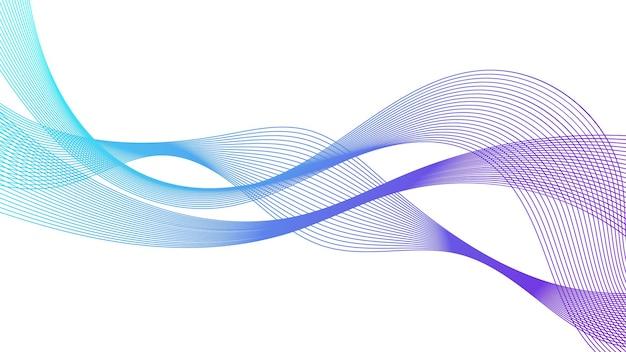 Streszczenie tło z linii gradientu kolorowe fale na białym tle. nowoczesna technologia tło, projekt fali. ilustracja wektorowa