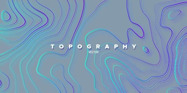 Streszczenie tło z liniową ulgą topografii