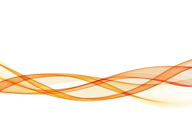 Streszczenie tło z pomarańczową gładką falą koloru. kolorowe faliste linie