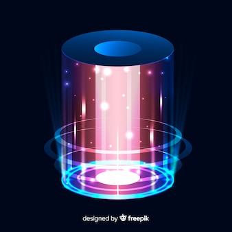 Streszczenie tło z portalem holograficznym
