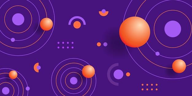 Streszczenie tło z sfer i kształtów geometrycznych