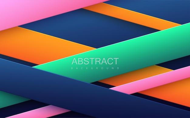 Streszczenie tło z wielobarwnymi kształtami geometrycznymi