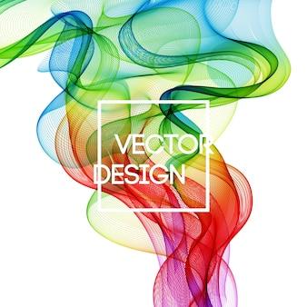 Streszczenie tło zakrzywione linie koloru. szablon projektu broszury