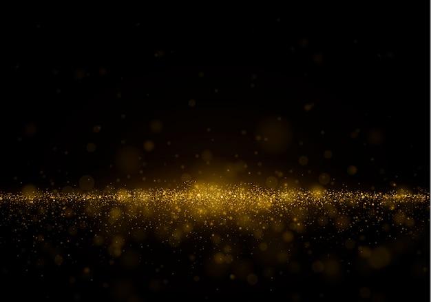 Streszczenie tło zamazane pole z blasku światła, bokeh i świecące cząstek.