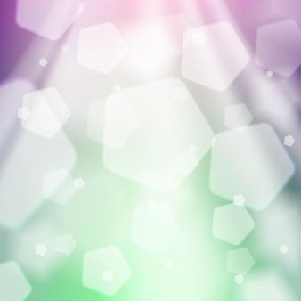 Streszczenie tło zielone i fioletowe. światło słoneczne, bokeh, błyszczące i błyszczące tło. element graficzny dla stron internetowych, broszur, ulotek. ekologia, wiosna, lato koncepcja. ilustracja wektorowa