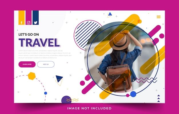Streszczenie tour & travel landing page