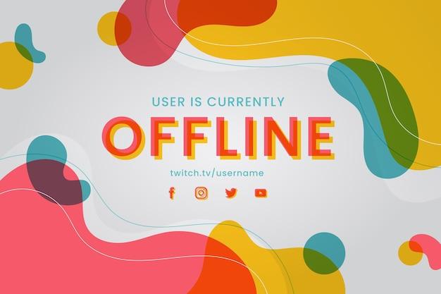 Streszczenie transparent twitch offline