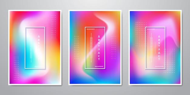Streszczenie trendy gradientowe kształty holograficzne tła