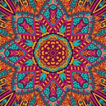 Streszczenie tribal vintage etniczne bezszwowe wzór ozdobnych. świąteczny kolorowy wzór tła