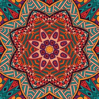 Streszczenie tribal vintage kolorowe etniczne bezszwowe wzór ozdobne