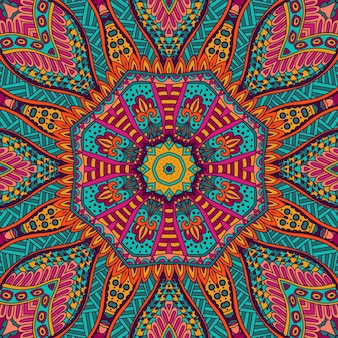 Streszczenie tribal vintage kolorowy etniczny świąteczny wzór ozdobny