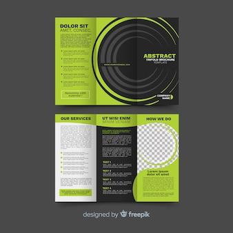 Streszczenie trifold szablon broszura