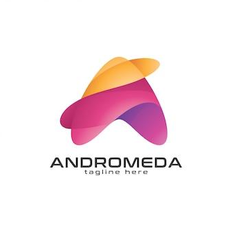 Streszczenie trójkąt strzałka lub litera a logo