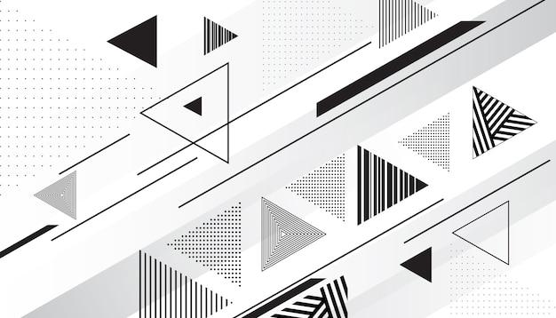 Streszczenie trójkątne tło