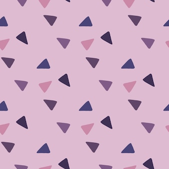 Streszczenie trójkąty wzór. fioletowo-granatowe elementy na liliowym tle.