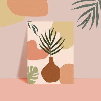 Streszczenie tropikalny liści tło okładki plakat. abstrakcyjne tło. streszczenie tapeta liści
