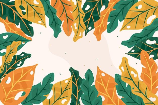 Streszczenie tropikalny liści tło